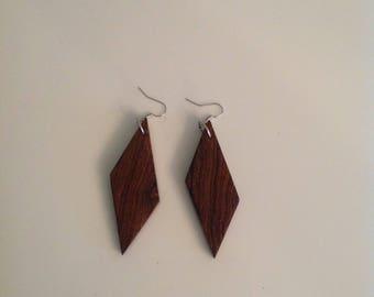 Bocote Earrings, Wood Earrings, Exotic Earrings, Dangling Earrings