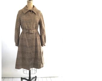 70s wool trench coat | vintage wool coat | 1970s trench coat