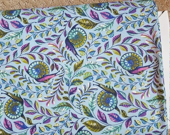 Tula Pink Pit Crew in Blue Raspberry Snails Slow and Steady Freespirit Fabrics