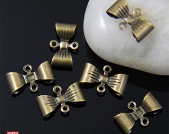 30pcs Brass Bow Connector Charm