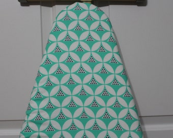 Seafoam Green/White Padded Ironing Board Cover