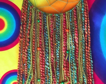 Medium Green/Orange Dreamcatcher