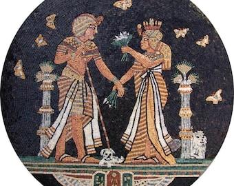 The Pharaohs Marble Mosaic Medallions