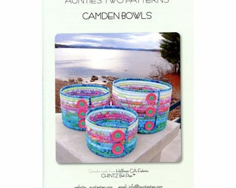 Camden Bowls by Aunties Two Patterns - Paper Printed Pattern