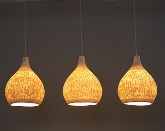 Hanging lights etsy hanging lights ceiling lighting porcelain pendant lamps mozeypictures Choice Image