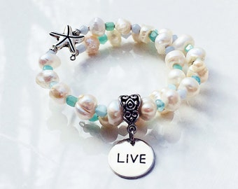 Live The Dream Starfish Bracelet