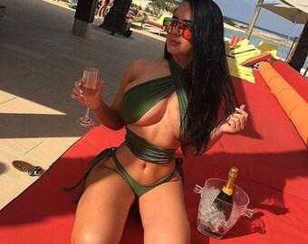 Halter wrap bikini