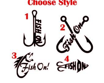 Fishing Decal, Fishing Vinyl Decal, Fishing Vinyl, Fishing Sticker, Fish On Decal, Decal for Men, Fishing, Fishing Gift