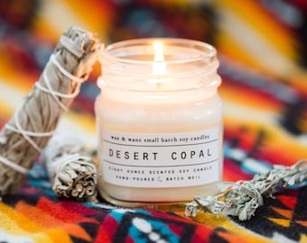 Desert Copal Soy Candle - Copal Candle - Soy Candle - Ready to Ship  Burning Copal Candle -Desert Candle- Southwest Candle - Bridesmaid Gift