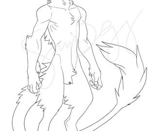 Anthro drakka base INSTANT DOWNLOAD