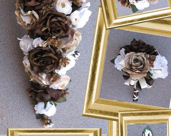 Chocolate Wedding Bouquet Set