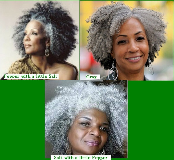 Silvergray 20 Afro Kinky Curly Human Hair Braiding