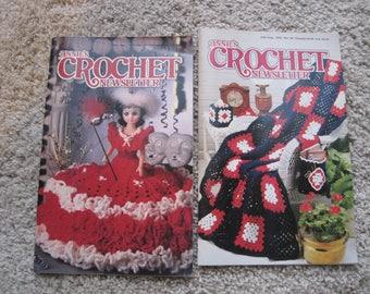 Lot of 2 - Annies' Crochet Newsletter - Vintage 1992