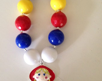 Little Red Riding Hood chunky bubble gum necklace