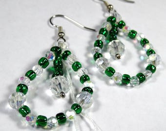 Emerald Isle Swarovski Crystal and Czech Glass Earrings