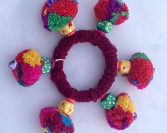 Winter Accessories For Her Bohemian Pom Pom Hair Clip Colorful Pom Pom  Hair Accessories Women Accessory Gift for Her Womens Gift for Mom
