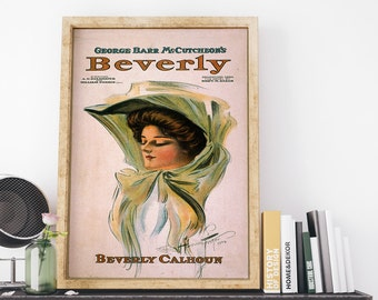 Vintage USA Theatrical Poster: George Barr McCutcheons BEVERLY 1904 by Harrison Fisher Theatrical Art Print