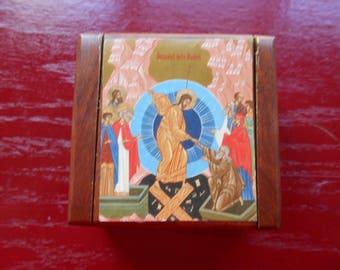 Pascha Easter wooden box