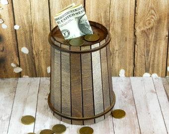 Wooden piggy bank Wooden money bank Wooden coin bank Wooden money box Money wooden holder Piggy bank gift personalized bank Savings Bank
