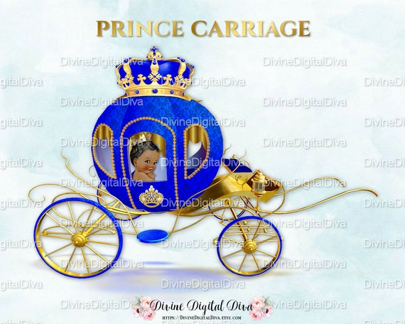 Little Prince Carriage Coach Royal Blue Amp Gold Ornate