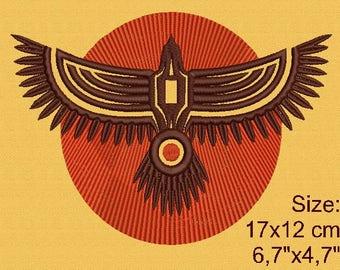 Totem eagle machine embroidery designs