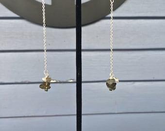 Labradorite/Freshwater Pearl Drop Earrings