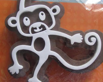 Foam rubber stamp depicting a monkey-Deco stamp - 11 cm x 12 cm