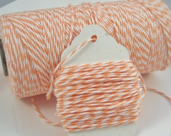 Bakers Twine - The Twinery - 100% Cotton  - Cantaloupe Twist - Your Choice of amount