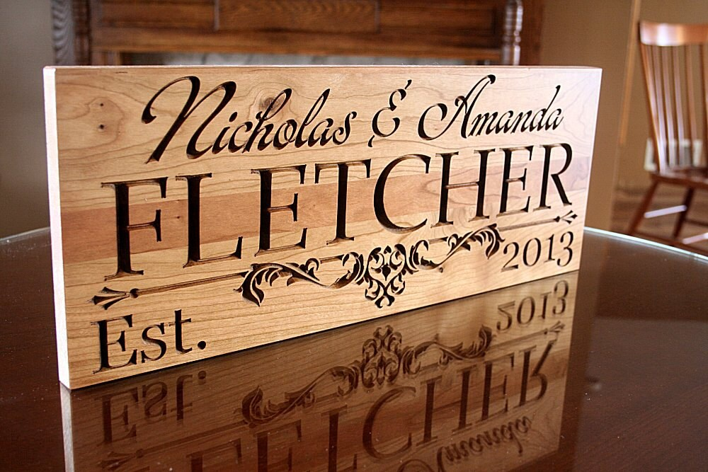 Family Name Sign Personalized Last Name Wood Sign Custom