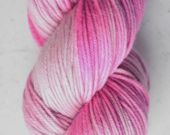 Sparkle Sock Yarn, Flamingo with a Chance of Cloudy