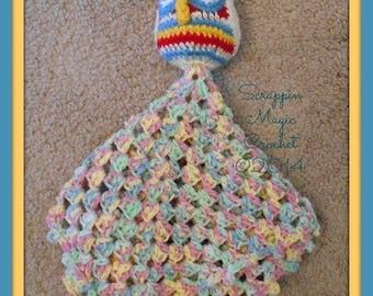 Little Owl Lovey ~ lovie ~ security blanket ~ stuffie