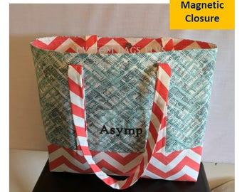 Monogram canvas beach bag-custom beach bag-bridesmaid beach bag-monogram beach tote-large beach bag-personalize beach bag-teacher beach bag