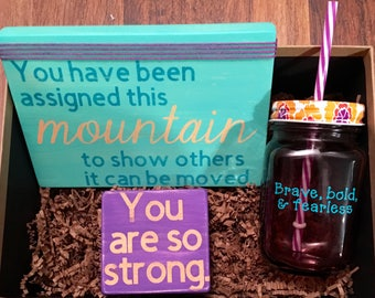 Cheer Up // Be Strong, Break Up Gift, Cheerful Gift, Inspirational Gift, Birthday Gift, Best Friend Gift, Christas Gift, Gift for Her
