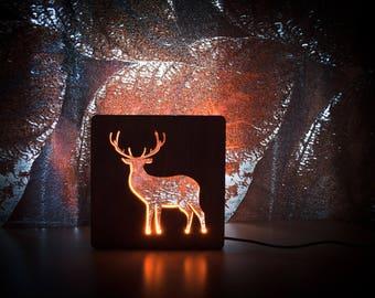 Deer Lamp Night Lights Lamp For Bedroom Table Lamp Wooden Lamp LED Lamp