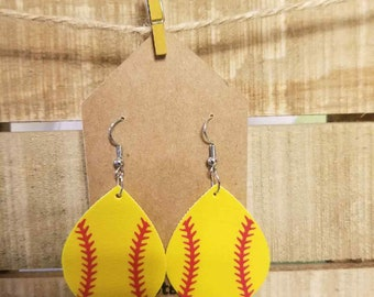 Earrings, softball, gift, sports, mom