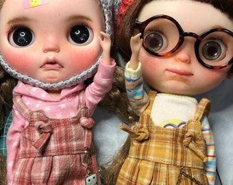 Grunge Plaid Overalls Blythe Doll - 7 colors