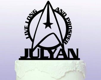 Personalised Vulcan Cake Topper