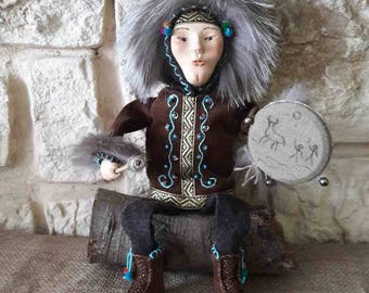 Handmade doll Voodoo Collectible doll Shaman Personalized Rag Doll interior doll Handmade