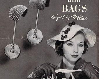 VintageCrochet  Patterns - Hiawatha - Hats & Bags - Designed by Melina- 1953