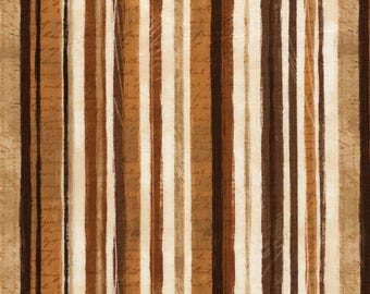 """Stripe Fabric; You Choose Size; C5728; Timeless Treasures; Cotton Quilting Weight; 42/44"""" wide; Cafe Au Lait; Coffee"""