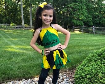 Girl's Skirt Set (Jamaica Flag)