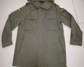 Vintage Germany Army Parka Jacket 1988/Olive Green/army parka rare/parka army 80s