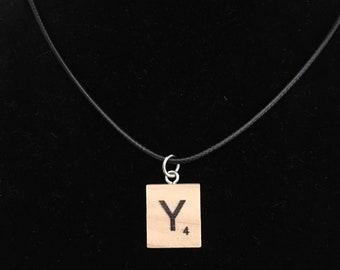 Scrabble Tile Necklace, Unique Necklace, Letter Necklace, Kids Necklace, Party Favor Necklace, School Necklace, Teacher Necklace