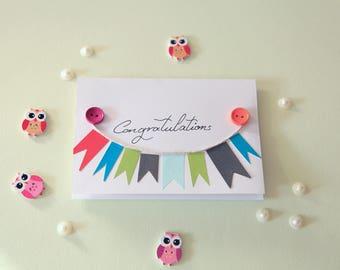 congratulations bunting card 2