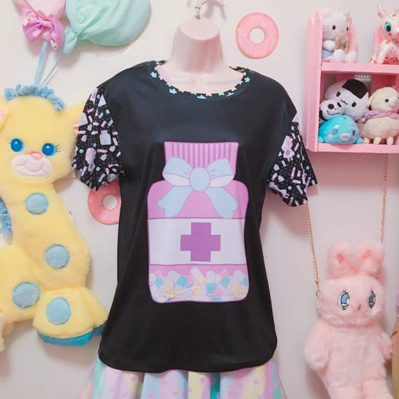 Happy Pills Yami Kawaii Kei Shirt, Yami Kawaii Happy Pills Shirt