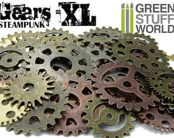 Set 85gr. - COGS and GEARS Steampunk XL - 15-20 units - Sizes 3-5cm - Beads Mix