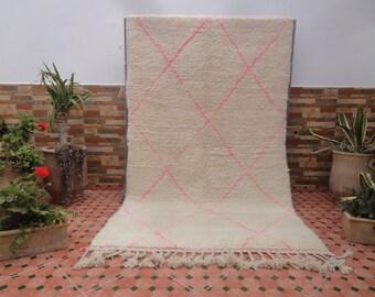 pink beni ourain rug vintage moroccan berber