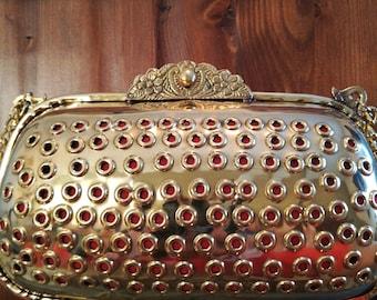 Vintage inspired brass bag