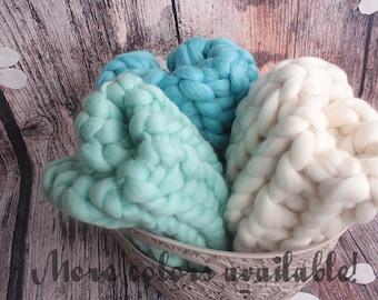 20%OFF* Newborn Chunky Blanket, Baby Chunky Blanket, Newborn Chunky Wool, Baby Chunky Wool, Newborn Photo Prop, Baby Photo Prop