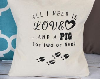 Pillow Cover - All I Need Is Love
